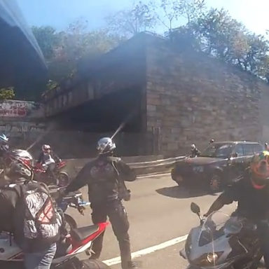 Insane Video Of Biker Gang Terrorizing Family In SUV In High-Speed Pursuit And Assault