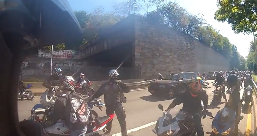 Insane Video Of Biker Gang Terrorizing Family In SUV In High-Speed Pursuit AndAssault
