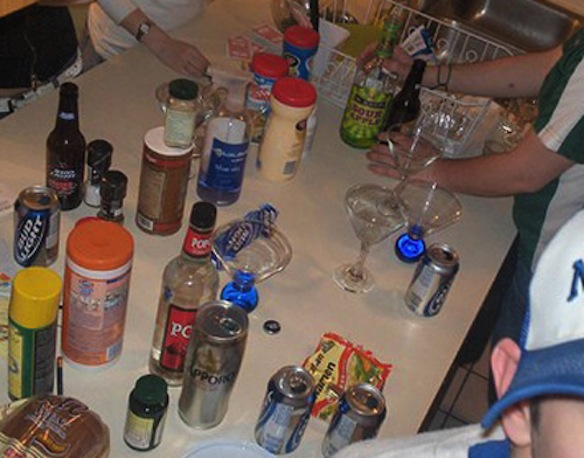 In college, my parties typically looked like this nonsense.