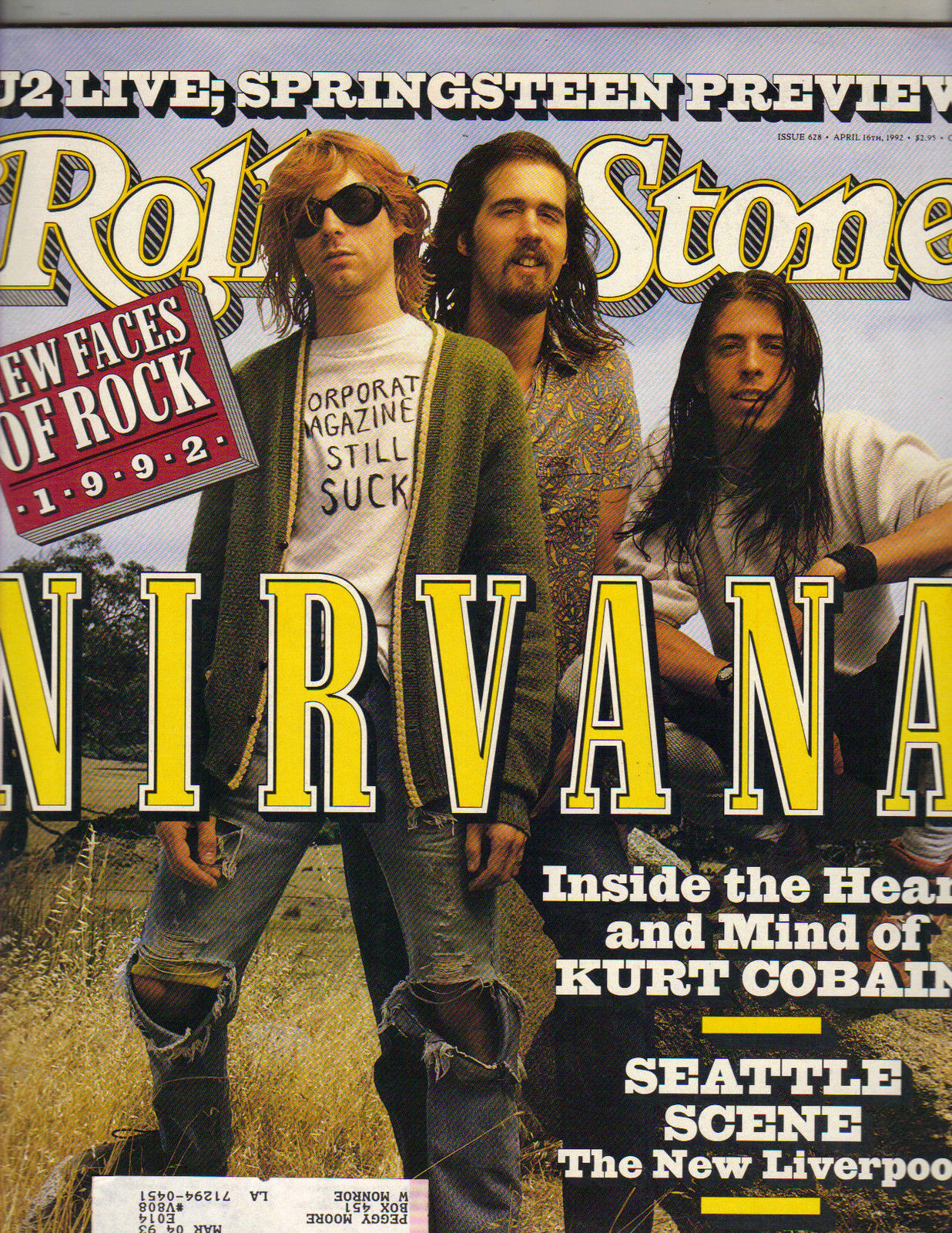 Nirvana Rolling Stone Cover
