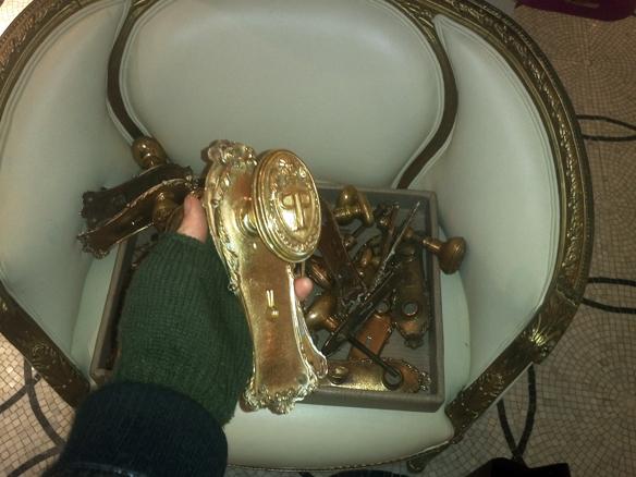 NYC Plaza Hotel Gold Doorknobs