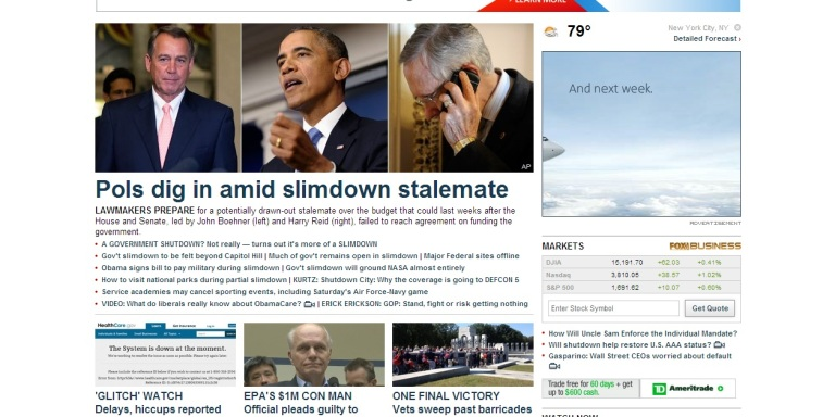 "Fox News: Government Shutdown Actually a ""Slimdown"""