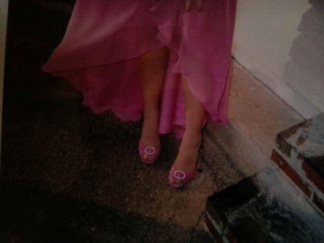 These are actually an entirely different pair of hot pink heels. Apparently I had a lot.