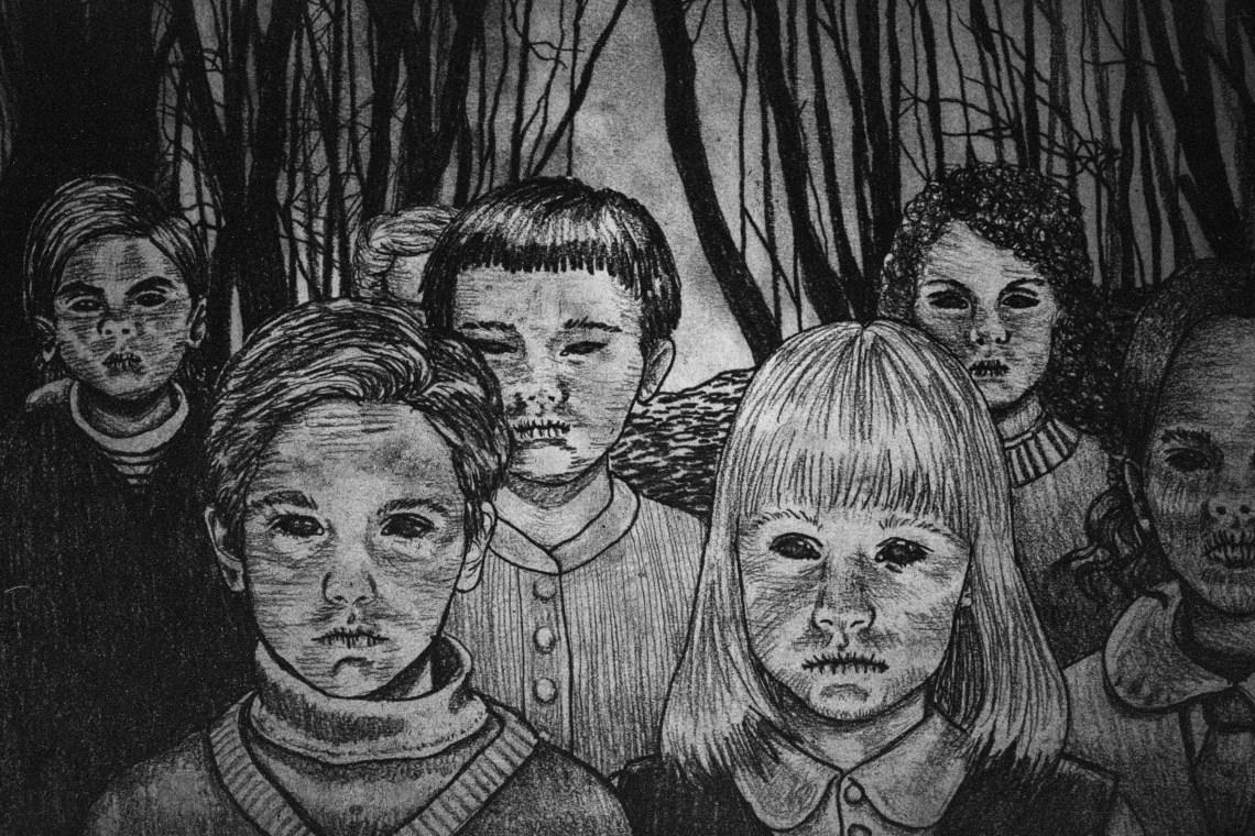 Illustrative portrayal of the Black Eyed Children