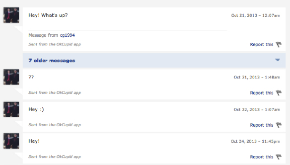 OkCupid Messages That Make Me Lose My Faith in Humanity