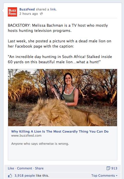 Buzzfeed's Facebook Page