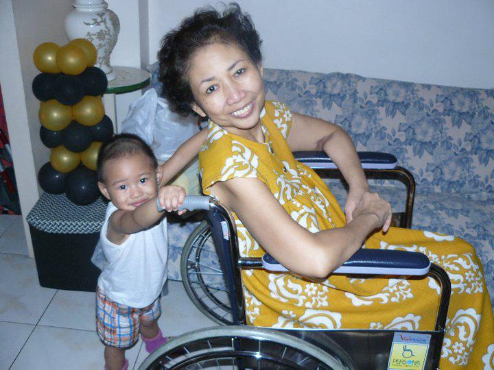 My mother and our little miracle baby, U1.