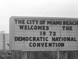 1972 july convention center sign