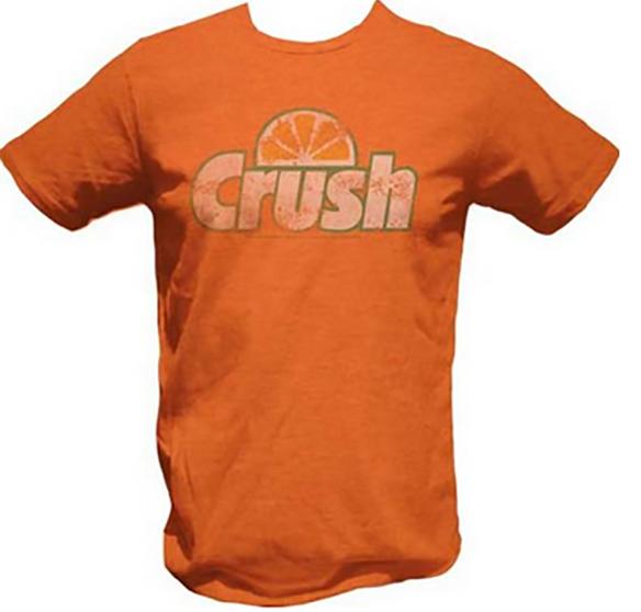 Crush Distressed Logo Orange T-Shirt