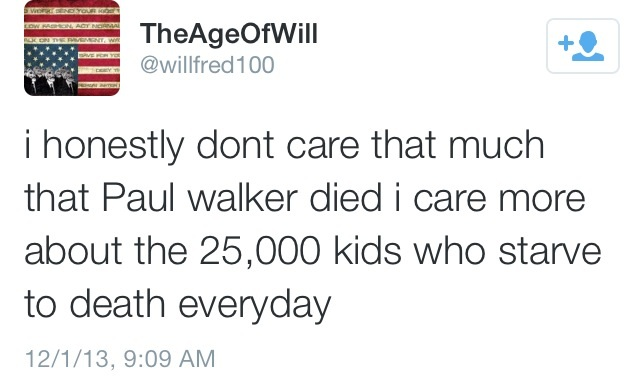 I Don't Really Care About Paul Walker'sDeath