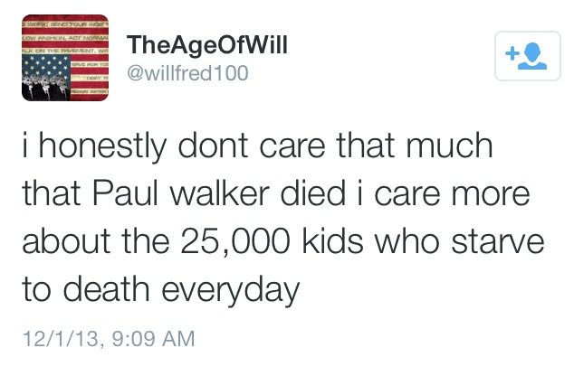 I Don't Really Care About Paul Walker's Death