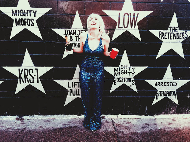 The sparkly jumpsuit was at least good for a cute picture. Erin Pederson