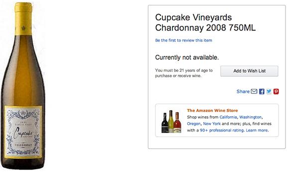 Cupcake Vineyards Chardonnay 2008 750ML