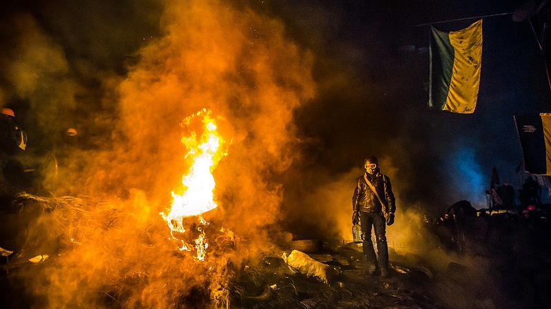 These Images Of Ukranians Protesting Are Startling, Upsetting,Gorgeous