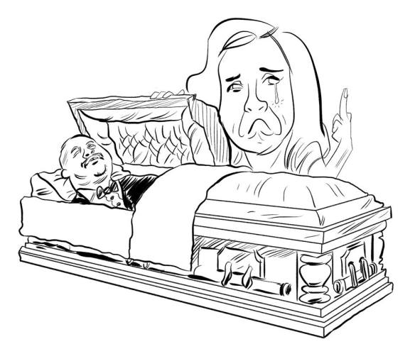 Me, mourning Uncle Phil and telling 2014 to go fuck itself. By Joe Karg.