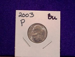 Philadelphia Mint Jefferson Nickel from 2003