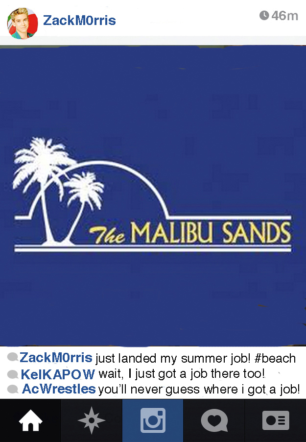 What If Zack Morris Had Instagram?