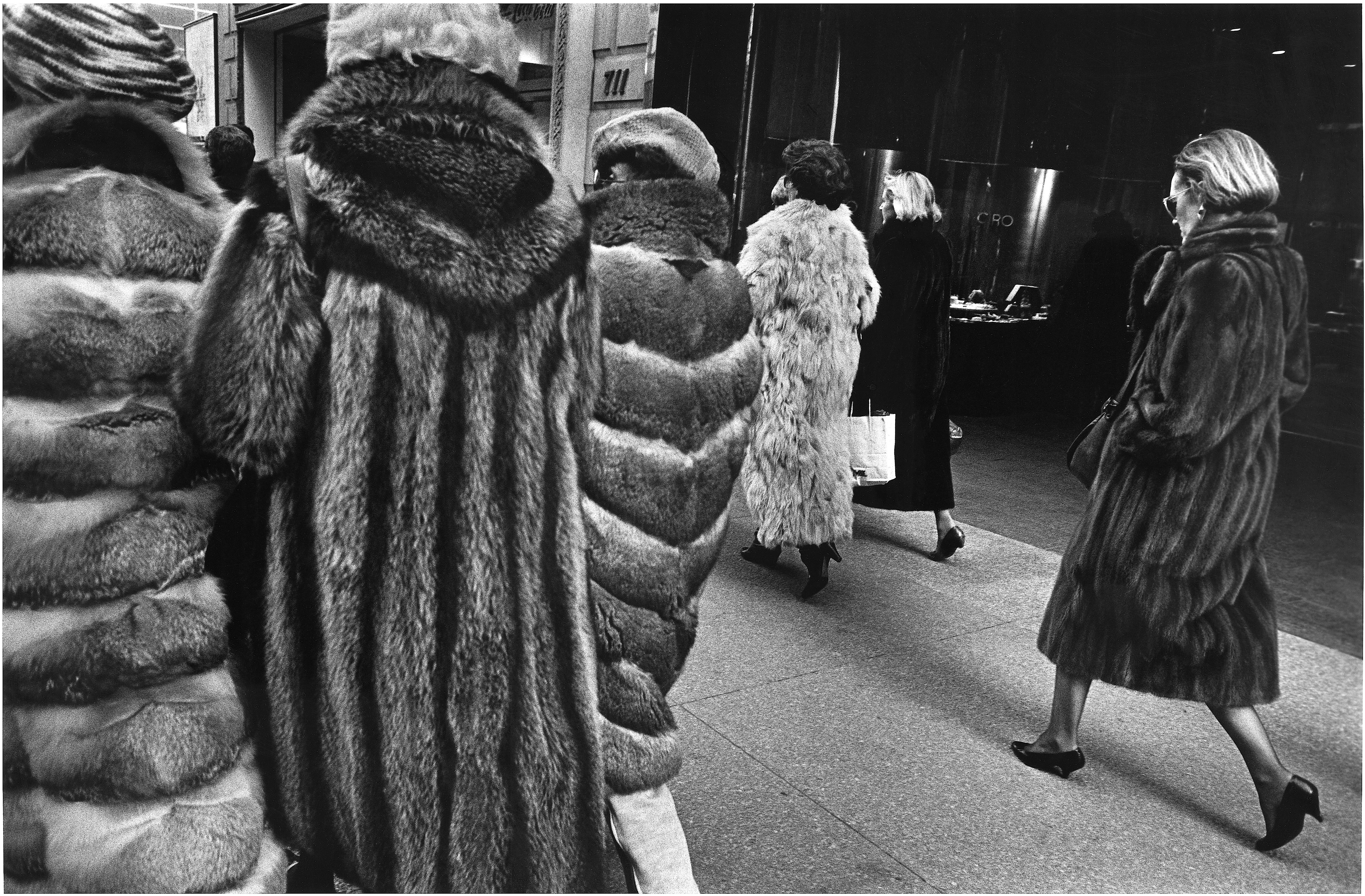Furs on 5th Ave., 1984 Richard Sandler Photography