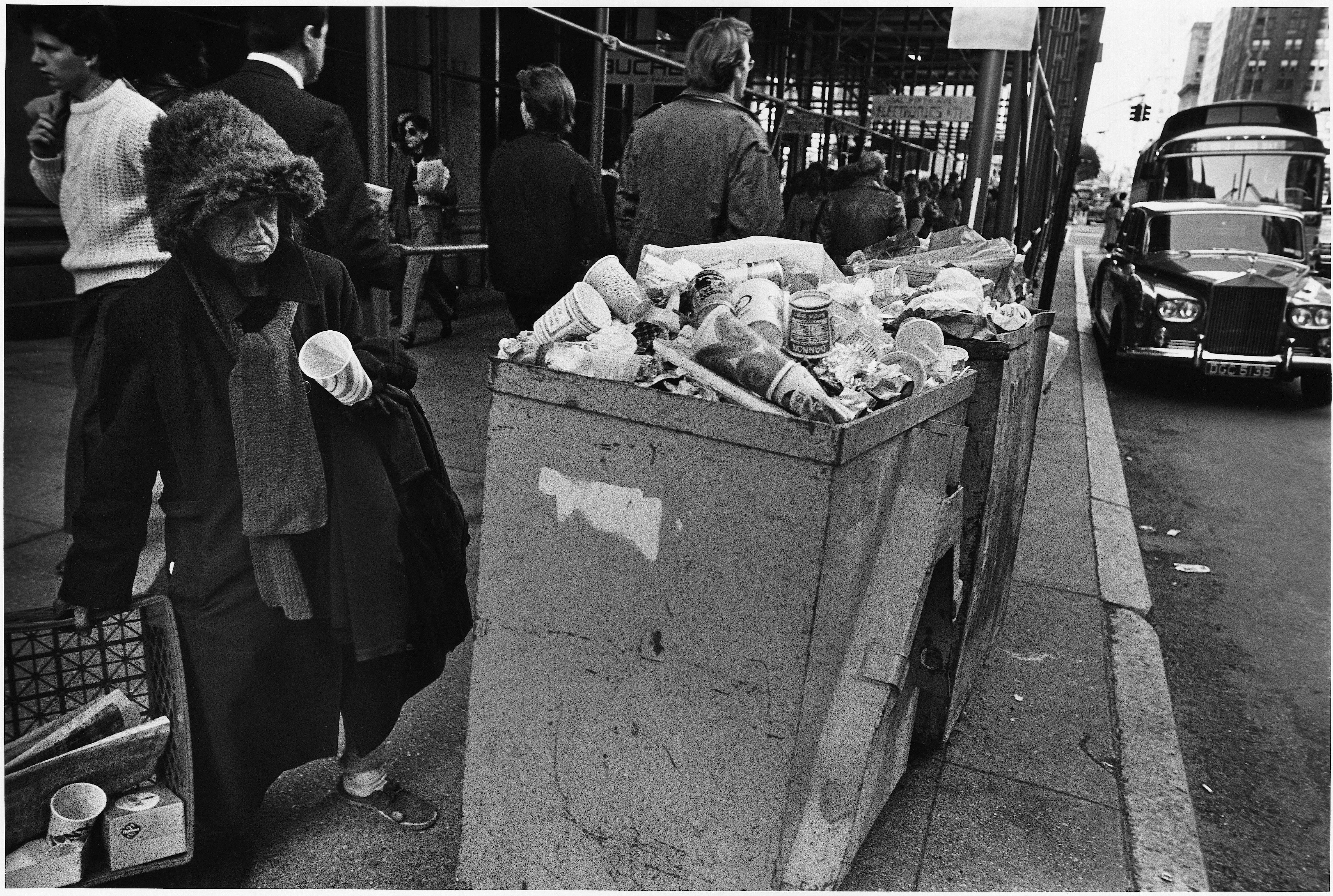 Homeless woman and rolls, 1982 Richard Sandler Photography