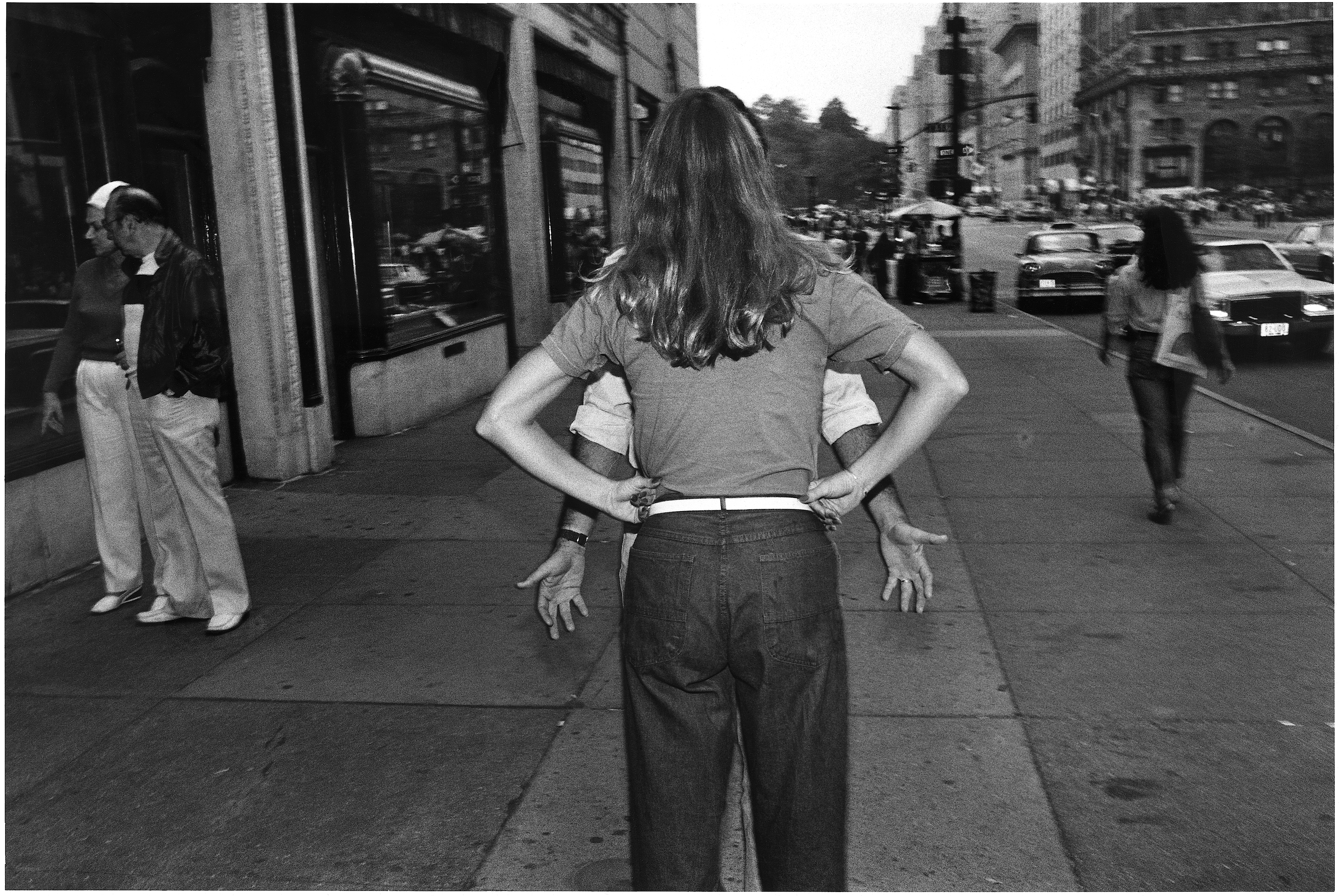 Pissed and pleading on 5th Ave., 1987 Richard Sandler Photography