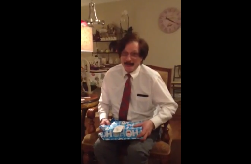 It Feels Like -16ºF Outside, But You Can Cozy Up With This Incredibly Heart-Warming Video Of This Man Opening His Christmas Gift