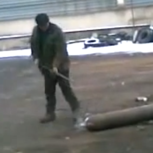 This Russian Man Poking At A Gas Cylinder Is Probably The Most Suspenseful Video You Will See Today