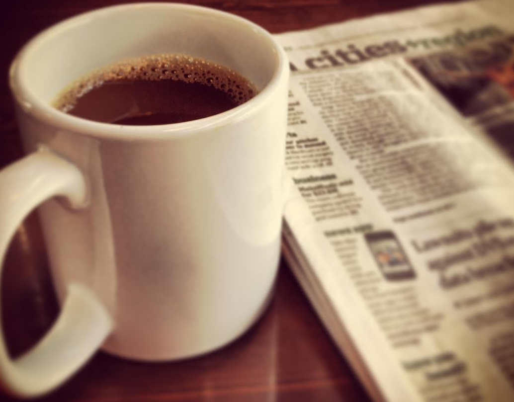 I looooove coffee…I don't consider caffeine an addiction and will never give up my coffee or Sunday paper!