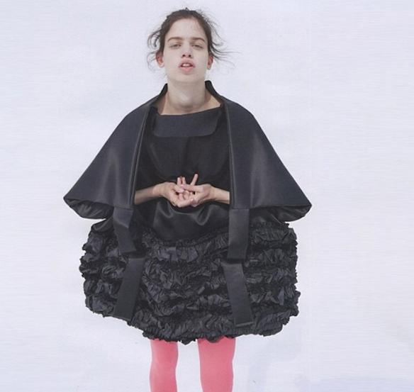 commedesgarconsofficial Lily McMenamy in CDG for System Magazine.