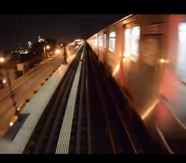 Some Guy Decided To Ride On The Back Of The Subway And Film Himself Going Across The Williamsburg Bridge