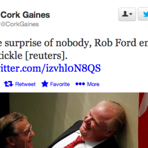 Here's A Glorious Photo Of Rob Ford Getting Tickled