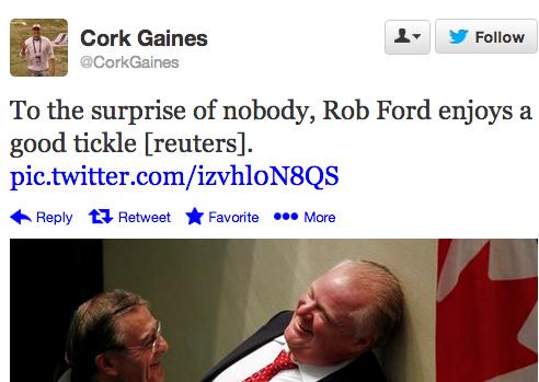 Here's A Glorious Photo Of Rob Ford GettingTickled