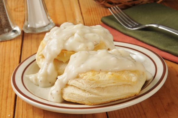 Rednecks and Southerners both like biscuits and gravy. But only idiots don't like biscuits and gravy. Shutterstock