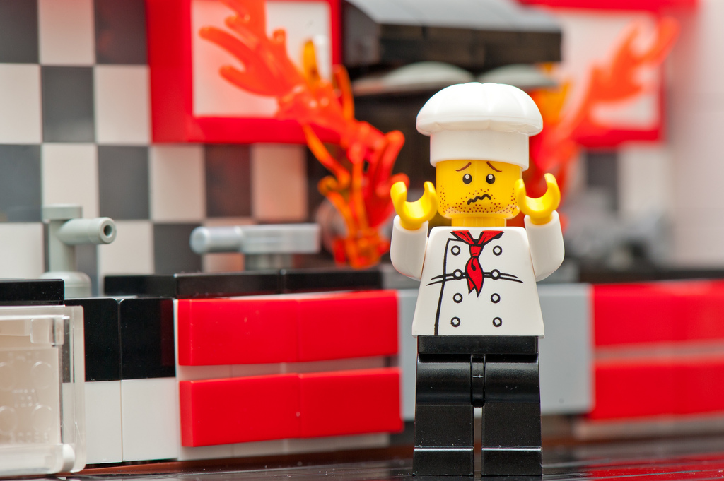 artist's rendering of me in the kitchen | image via kennymatic on Flickr
