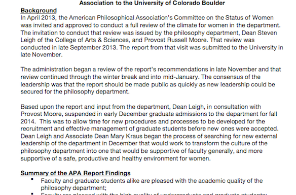 Are Some Guys In Philosophy At The University Of Colorado-Boulder Bullies?