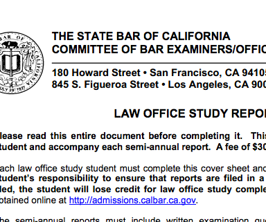 What I Learned About Life From Failing The California Bar Exam