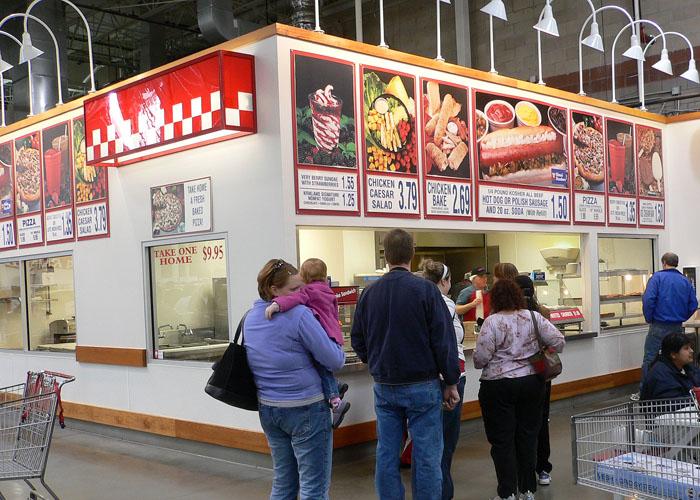 The foodcourt of the Overland Park, Kansas Costco. image - Jekoln