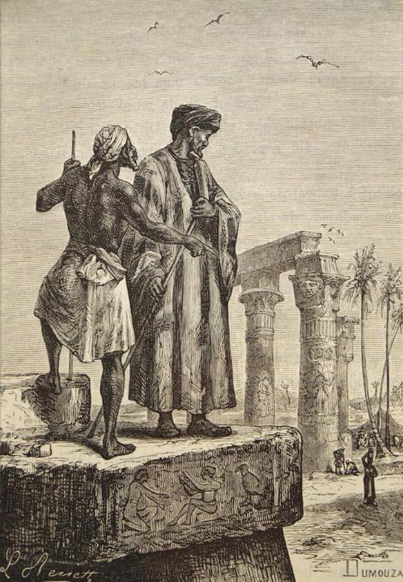 Ibn Battuta in Egypt by Hippolyte Leon Benett