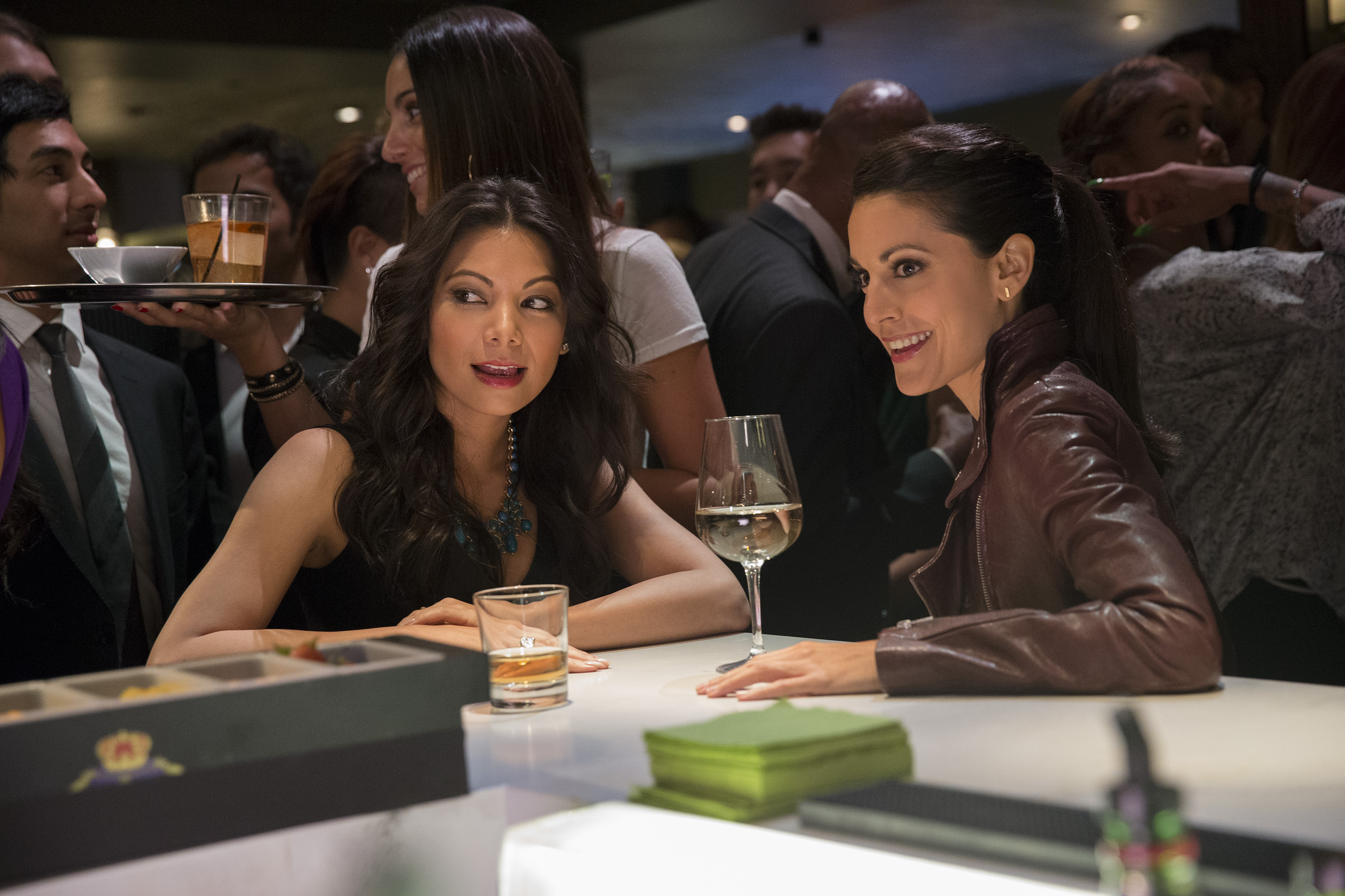 You can't get anywhere sitting on the sidelines. Maya (Ginger Gonzaga) and Liv (Kate Simses). - Mixology.