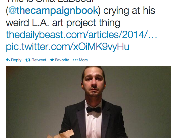 Shia LaBeouf Is Braver Than The Internet
