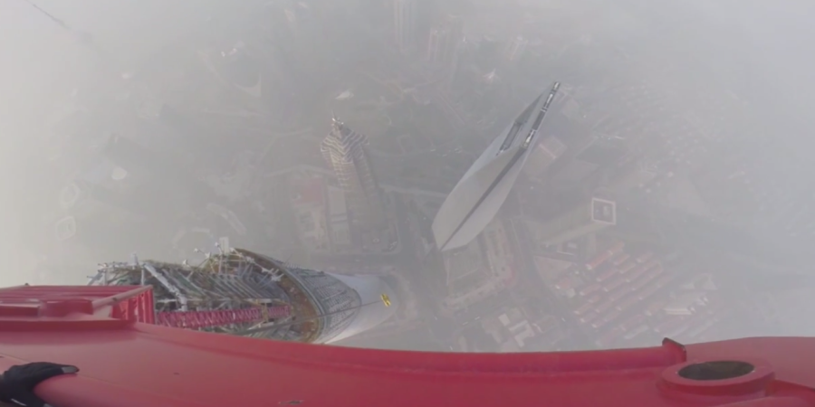 If You Want Your Palms To Start Sweating, Watch These Russians Free-Climb The ShanghaiTower