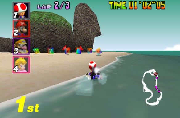 The 15 Best Racing Levels In Mario Kart'64