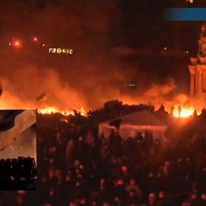 Kiev Is Burning. This Is Happening Right Now. Livestream Of The Scene Here.