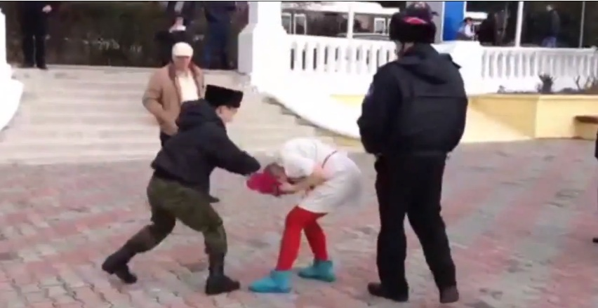 Pussy Riot Detained, Horsewhipped And Beaten By Cossacks For Protest During SochiOlympics