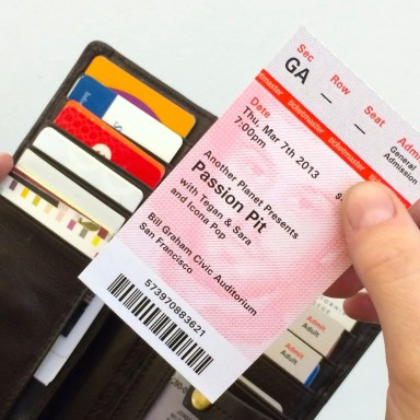 Dear Ticketmaster, It's Time To Redesign Your Tickets