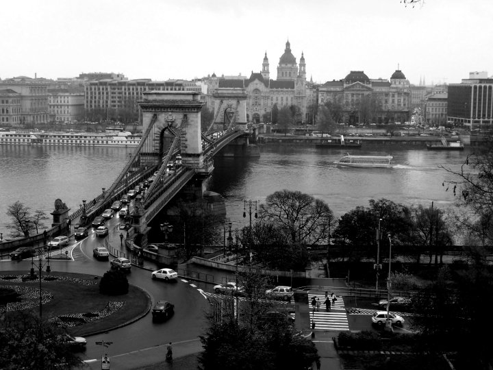 The view of Pest from Buda in Budapest