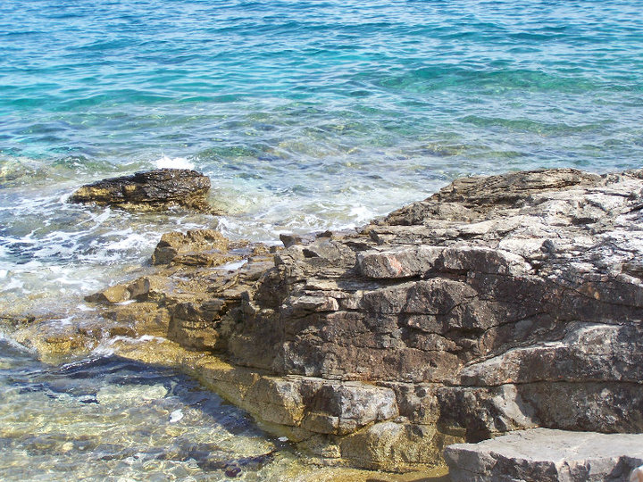 The Adriatic Sea from Solta, Croatia