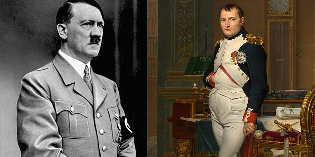 Adolf Hitler / Allgemeiner Deutscher Nachrichtendienst - Zentralbild (Bild 183) & Napoleon Bonaparte / The Emperor Napoleon in His Study at the Tuileries