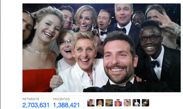 What Ellen's Oscar Selfie Tells Us About Fame