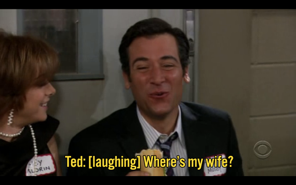 """Coincidentally, this is from Season 3, Episode 5 (305), and Econ 305 is where the mother and Ted """"meet"""". So, where is she? Amazon / How I Met Your Mother"""