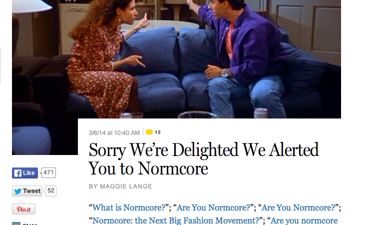 Why Normcore Is The Answer To Life, The Universe, And Everything